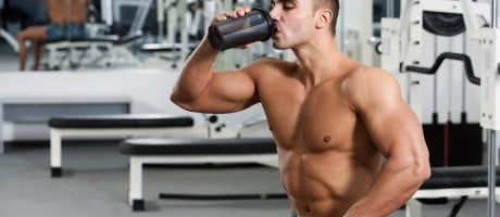 guy drinking a shake