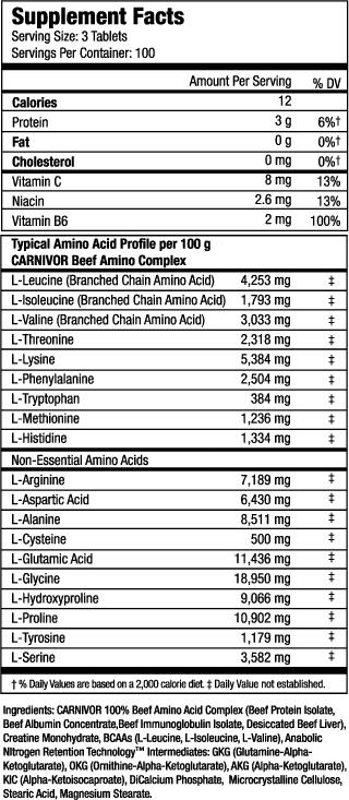 carnivor-beef-aminos-info