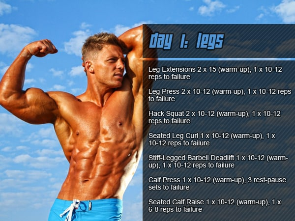 Steve Cook's Workout Routine - Day 1