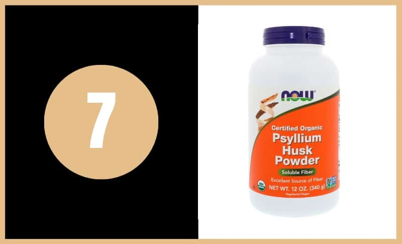 Best Fiber Supplements - Now Physllium Husk Powder