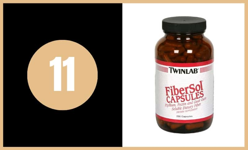 Best Fiber Supplements - TwinLab Fibersol Capsules