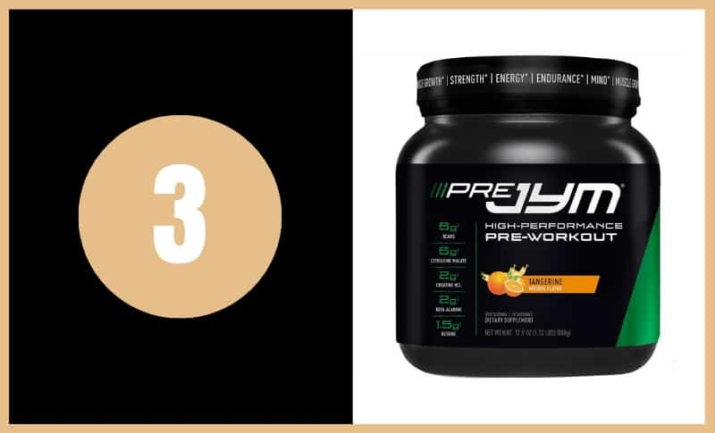 Best Pre Workout Supplements - JYM Pre JYM