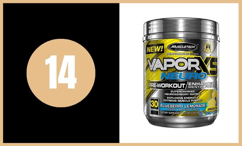 Best Pre Workout Supplements - Muscle Tech Vapor Neuro