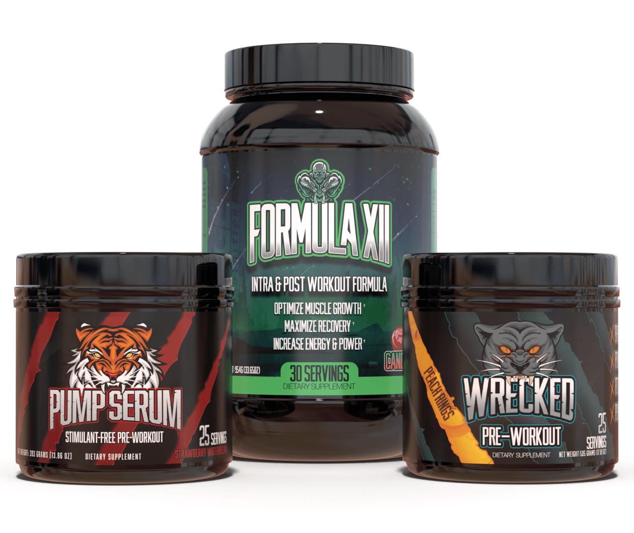 Enhanced Pre-Workout Stack (Wrecked, Pump Serum & Formula XII)