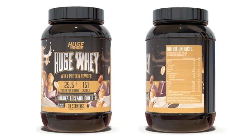 Huge Whey Ingredients Chocolate Peanut Butter