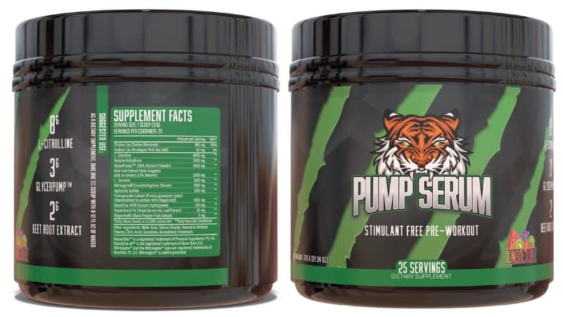 Pump Serum Supplement Facts and Ingredients
